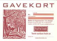 GAVEKORT FRA TRONSMO - 1900 KR