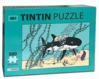 TINTIN PUSLESPILL - 500 BITER - HAIUBÅT