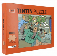 TINTIN PUSLESPILL - 1000 BITER - VEKTLØS I MÅNERAKETTEN