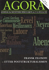 AGORA 2013 NR. 3-4 - FRANSK FILOSOFI